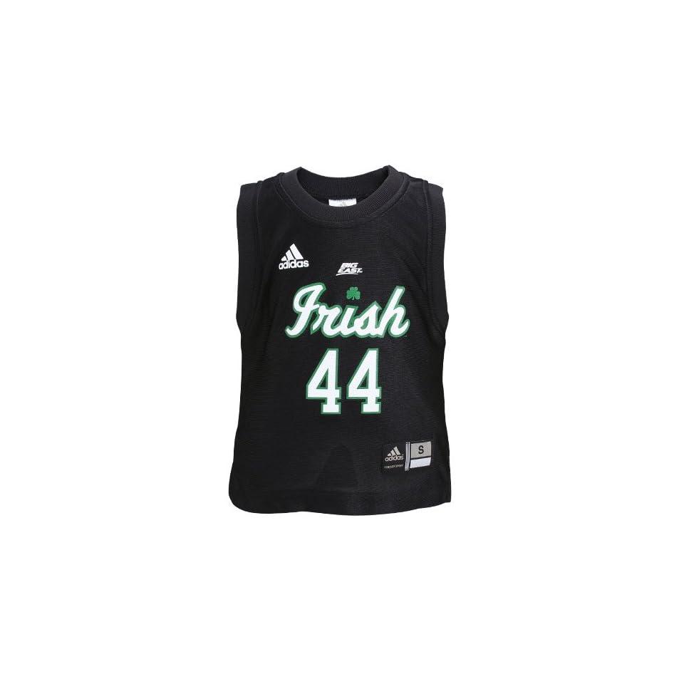 adidas Notre Dame Fighting Irish #44 Black Toddler Replica Basketball Jersey