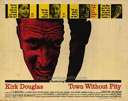 Township Without Pity POSTER Movie (1961) Style A 11 x 14 Inches - 28cm x 36cm (Kirk Douglas)(E.G. Marshall)(Robert (Bobby) Blake)(Richard Jaeckel)(Explicit Sutton)(Alan Gifford)(Barbara Rutting)