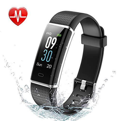 Kalinco Fitness Tracker, Color Screen Activity Tracker,Smart Watch Heart Rate Monitor, Sleep Monitor,Calories Counter, IP68 Waterproof, Steps Pedometer for Kids, Women and Men.