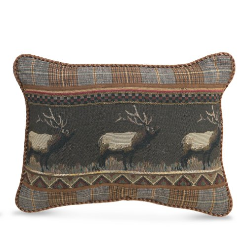 Croscill Caribou Boudoir Pillow, 20 by 15-Inch, Multicolor