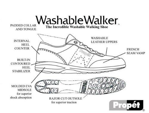 para W3840 blanco mujer blanco cuero Propet de Zapatillas q7wIOza