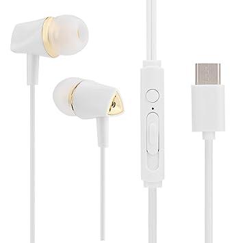 VBESTLIFE Auriculares Estéreo en La Oreja Sonido de Alta Fidelidad con USB tipo C con Micrófono