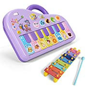 NextX Baby Music Toy Sound Piano Keyboard Electronic Learning Toy for Kids (Purple)