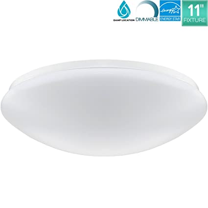 Luxrite 11 Inch LED Round Ceiling Light Fixture, 15W, 5000K (Bright ...