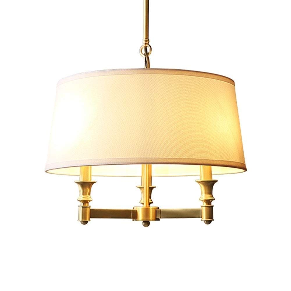 全銅カントリーレストランのシャンデリアダイニングテーブルの寝室の部屋の研究ランプ現代のミニマリストのアメリカのレトロな照明テーブル北欧モデルルームラウンド照明 B07SX414WN