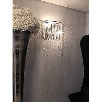 Siljoy Modern Crystal Wall Sconce Chandelier Lighting Contemporary Wall  Light For Bedroom Entryway Hallway