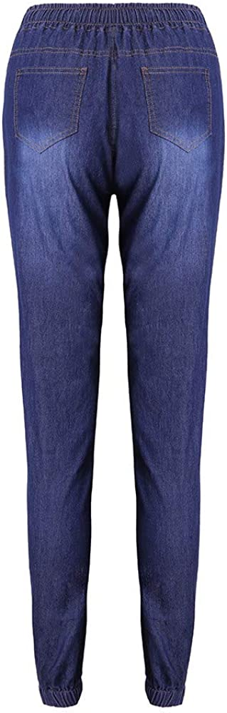 nobrand Jeans Donna Jeans a Vita Alta Pantaloni Elastici in Denim Allentato