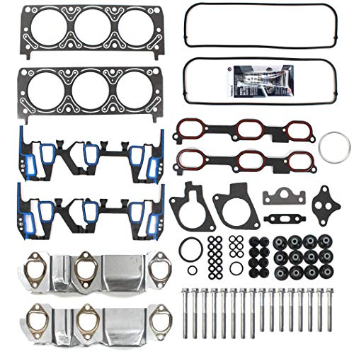 New EHG0072HBSI Head Gasket Set Intake Manifold Gasket, Cylinder Head Bolt Kit, RTV Silicone for 1999-03 GM Chevy 3.1L 3100