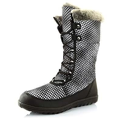 Amazon.com | DailyShoes Women's Comfort Round Toe Mid Calf