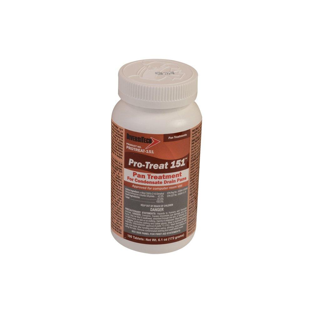 DiversiTech PROTREAT-151-12 Premium Drain Pan Treatment, 100 Tablets/Jar (Pack of 12)