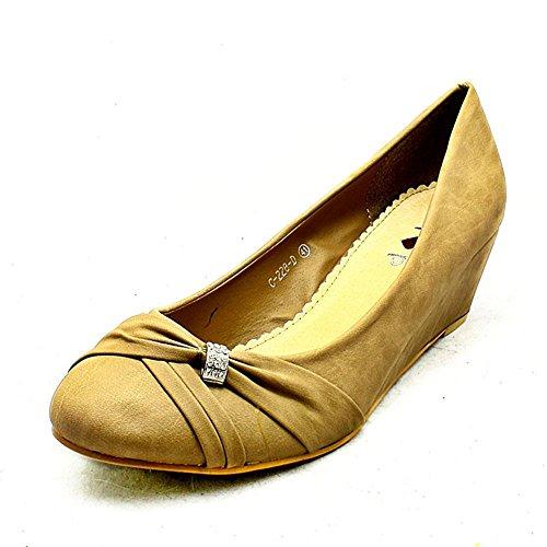 Kaki Cour Mesdames Basses Grandes Tailles La De Chaussures Daim Coin w7Xxq7z