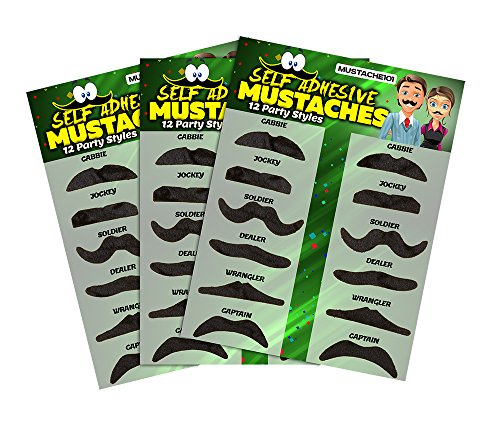 Allures & Illusions Fake Mustaches - 36 Costume and Party Mustaches ()