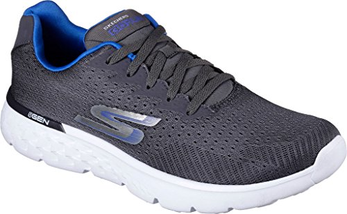 Skechers Performance Men's Go Run 400 Generate Running Shoe, Charcoal/Blue, 8 M US