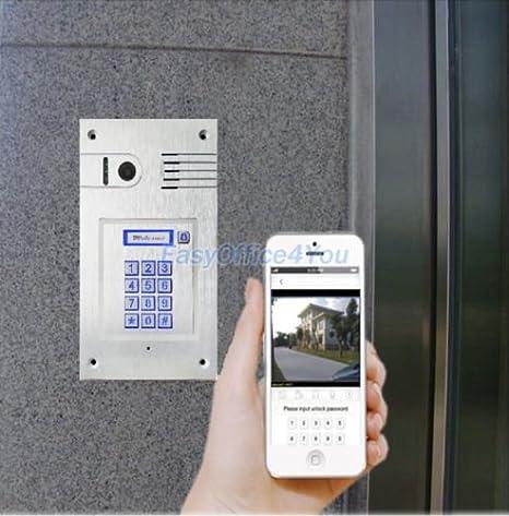 WiFi/IP RJ45 Vídeo puerta teléfono Control a través de smartphone ...