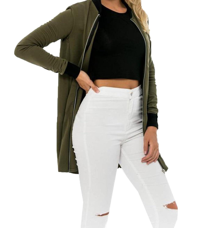 Comfy Women's Wild Solid Zipper Stylish Fit Biker Jacket Work Wear