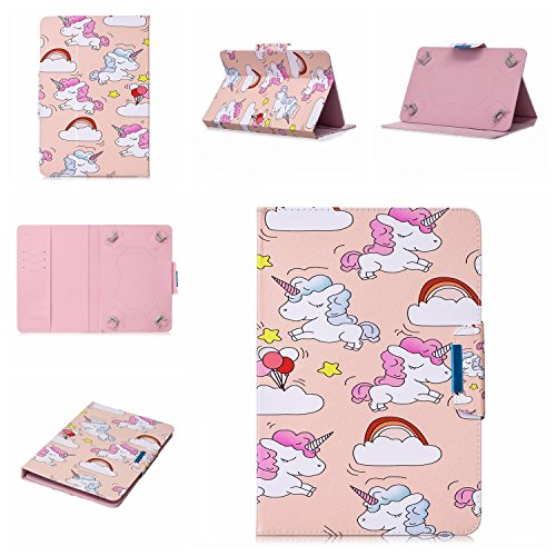 lio Case for 9-10.1 inch Tablet, PU Leather Stand Cover with Card Slots for 10