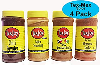 product image for Texjoy Seasoning Tex-Mex 4 Pack, Chili Powder, Fajita blend, Taco blend and Old West Mesquite Shake