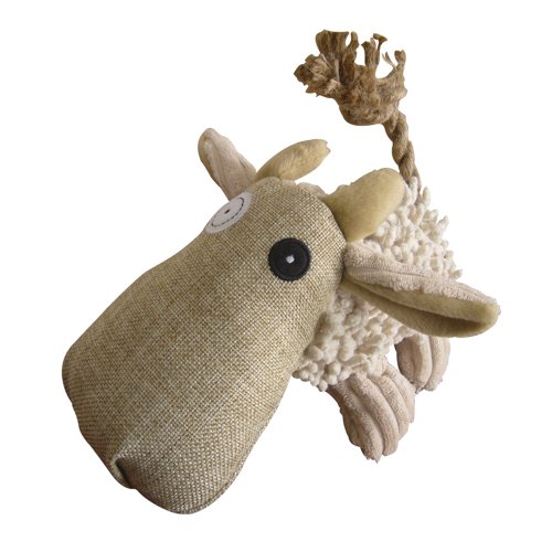 Pet Lou 00981 Naturally Twisted Dog Chew Toy, 6-Inch Cow, My Pet Supplies