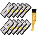 Buti-Life 10 pcs HEPA Filter Replacement for iRobot Roomba 800 900 Series 870 880 980 Vacuum Cleaner& Free fliter cleaning brush tool