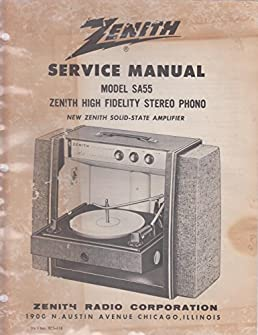 zenith service manual model sa55 part no 923 418 zenith radio rh amazon com User Webcast Clip Art User Guide