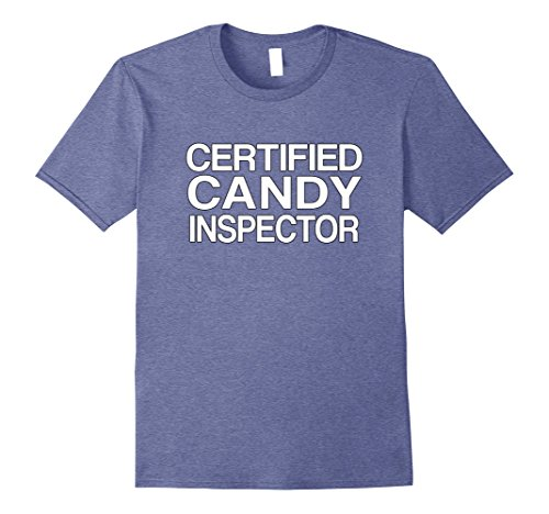 Mens Candy Inspector Funny Mom or Dad Halloween Costume Large Heather (Halloween Costumes For Moms And Dads)