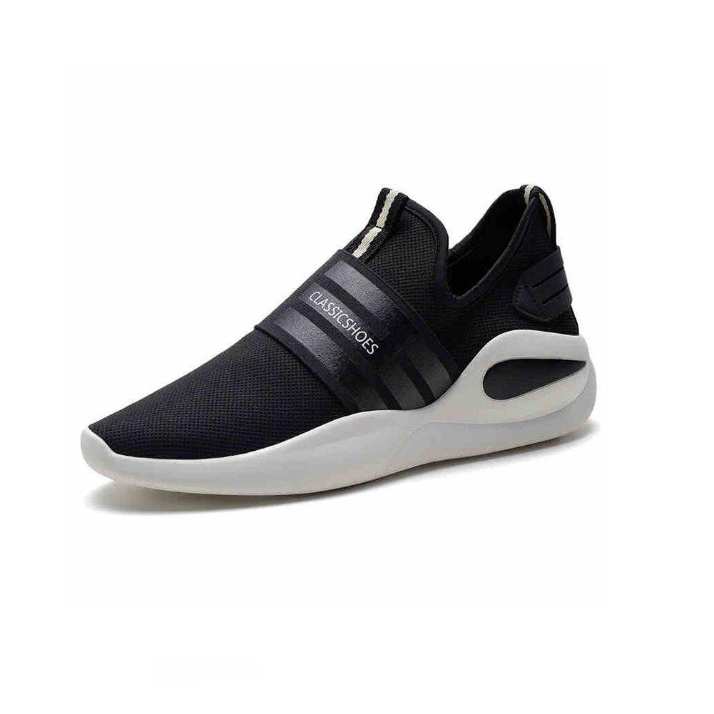 YIXINY Deporte Zapato Zapatos De Marea Clásicos Hombres Deportes Al Aire Libre Ocio Transpirable Versión Coreana Primavera Y Otoño Negro ( Tamaño : EU39/UK6.5/CN40 ) EU39/UK6.5/CN40