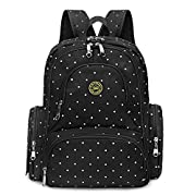 ON SALE- S-ZONE Diaper Bag Backpack, Large Capacity Baby Bag, Multi-Function Travel Backpack Nappy Bags, Changing Pad & Stroller Clips Included