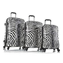 Zebra Equus Fashion Spinner Heys Luggage Set - Zebra Equus Spinners Suitcase Set (Zebra Equus)