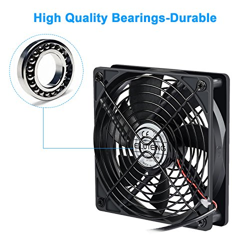 ELUTENG 120mm Fan 2 in 1 Dual USB Fan Computer Cooling Ventilator DC 5V Compatible for Laptop/Playstaion/Xbox One/Mini PC/Router/DVR Radiator Fan by ELUTENG (Image #3)