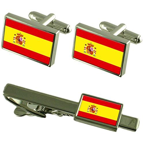 Cravate boutons de manchette drapeau espagne un Ensemble cadeau correspondant