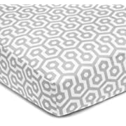 American Baby Company 100% Cotton Percale Fitted Crib Sheet for Standard Crib and Toddler Mattresses, Gray Honeycomb