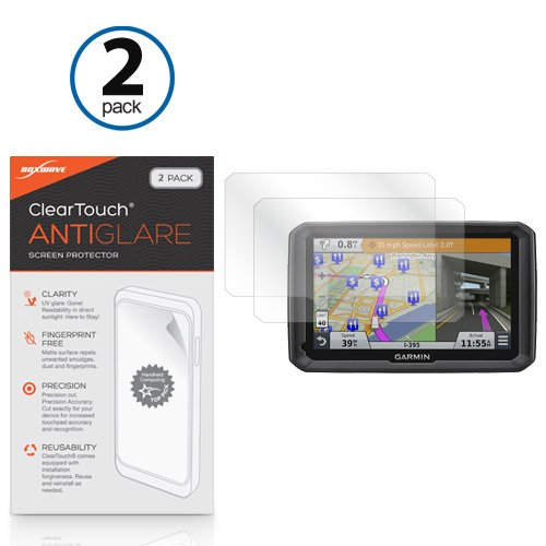 Garmin Dezl 770LMTHD Screen Protector, BoxWave® [ClearTouch Anti-Glare (2-Pack)] Anti-Fingerprint Matte Film Skin for Garmin Dezl 770LMTHD
