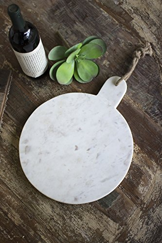 Kalalou Round White Marble Cutting Board One Size Off-