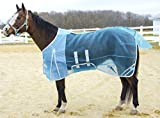 Derby Originals Mesh Belly Band Fly Sheet with Reflective Trim (75', Light Blue)