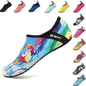 VIFUUR Water Sports Shoes Barefoot Quick-Dry Aqua Yoga Socks Slip-on Men Women Kids Surfing-40/41
