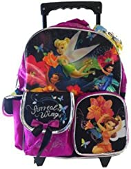 Small Size Sureal Wings Disney Fairies and Tinkerbell Rolling Backpack