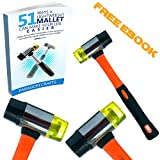 Exclusive BlemishFree Jewelry Hammer with Heavy-Duty Non-Slip Fiberglass Handle - Robust Dual-Head Mallet For Leather, Wood & Firearm Maintenance - Medium
