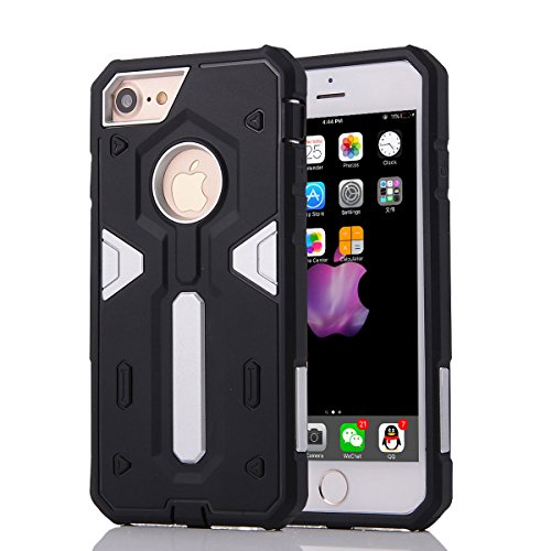 "HYAIT® For IPHONE 7 4.7"" [CONTRAST TRIANGLE]Case Dual Layer Hybrid Armor Rugged Plastic Hard Shell Flexible TPU Bumper Protective Cover-SJAE07"