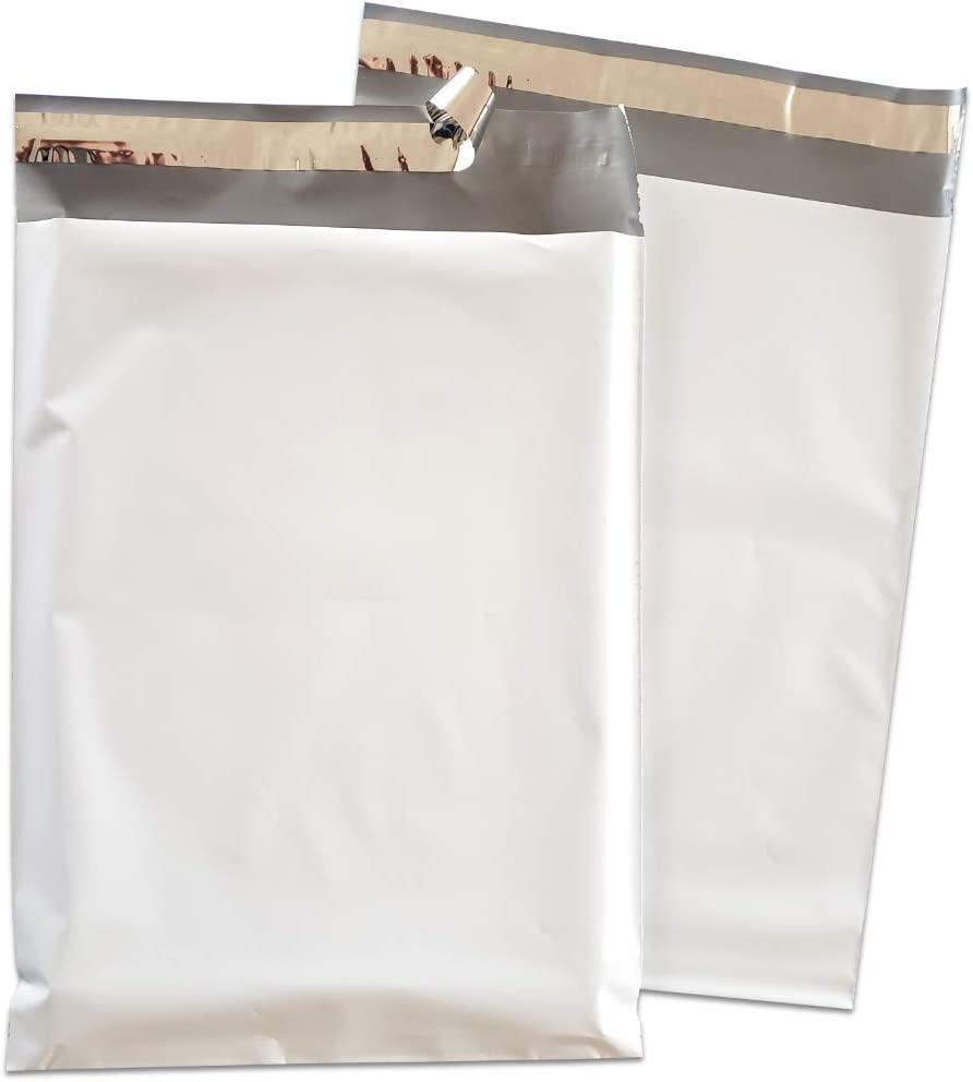 50 14.5x19 WHITE POLY MAILERS ENVELOPES BAGS 14.5 x 19