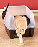 Open Top Litter Box with Shield by GetSet2Save