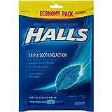 HALLS Cough Drops, (Mentho-Lyptus, 80 Drops, 12-Pack)