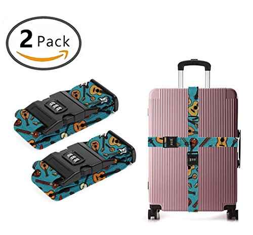 Delsey Black Camera Bag - YEAHSPACE Guitar Music Instrument 2 Pack Luggage Straps Suitcase Adjustable Belt Travel Bag Accessories