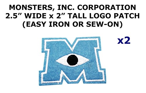 monster inc iron on patch - 5