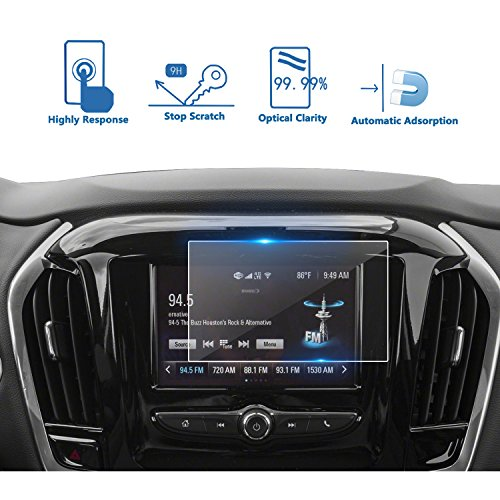 LFOTPP 2018 Chevrolet Traverse 7 Inch MyLink Car Navigation Screen Protector, [9H] Tempered Glass Infotainment Center Touch Display Screen Protector Anti Scratch High Clarity by LFOTPP