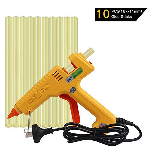 FLY5D 300W Glue Gun Hot Melt PDR Glue Gun With 10pcs Super Sticky Glue Sticks for Auto Metal Dent Repair Home Use DIY For Arts & Crafts & Sealing and Quick Repairs (300W glue gun set) ()