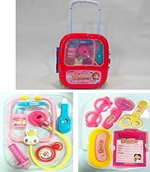 Carrito médico doctor con accesorios infantil: Amazon.es: Juguetes y juegos