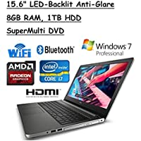 2016 Newest Model Dell Inspiron 15.6 5000 LED-Backlit Anti-Glare Screen Laptop, Skylake Intel Core i7-6500U, AMD Radeon R5 M335 DDR3, 8GB RAM, 1TB HDD, Win 7/10 Pro