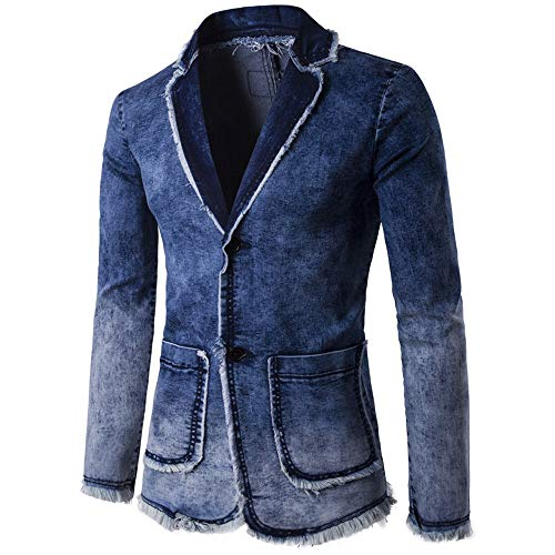 HYIRI Factory Sale Men's Cardigan Wash Vintage Denim for sale  Delivered anywhere in USA