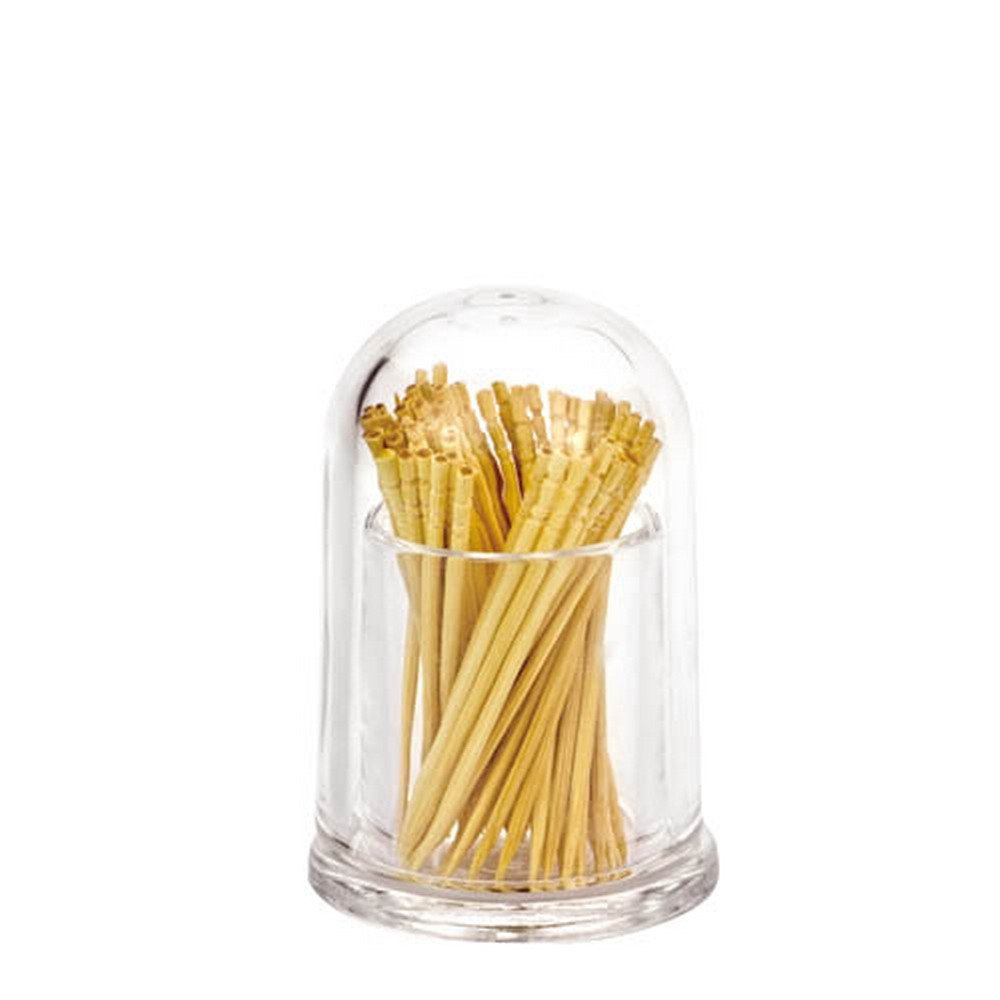 Giftale Restaurant-Style Plastic Toothpick Dispenser Glass Like,Crystal Acrylic Toothpick Holder Round