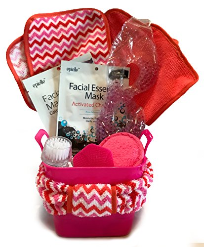 Spa Gift Baskets - Luxurious Bath Spa Set - Perfect for Wife, Mom, Grandmother, Daughter, Girlfriend, Friend, Aunt, or Coworker (Facial Spa Gift - Pink) (Fish Gift Baskets)